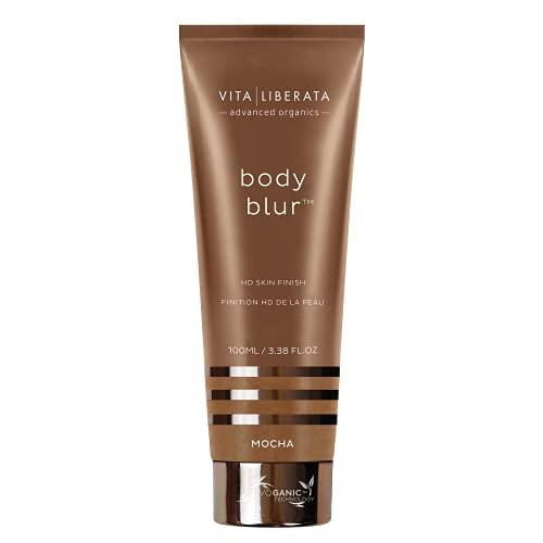 Maquillaje para cuerpo Vita Liberata.Desenfoque de cuerpo instantáneo HD, acabado de piel instantánea, bronceador 100ml.