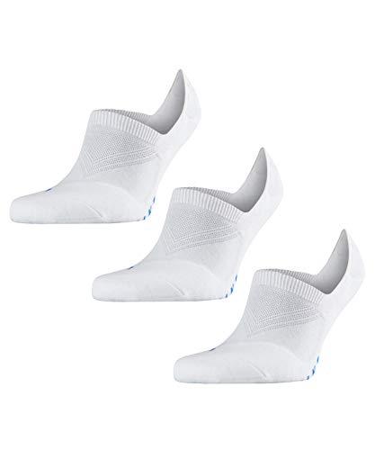 FALKE Unisex Füßlinge Cool Kick Invisible 3-pack - Funktionsfaser, 3 Paar, Weiß (White 2000), Größe: 44-45