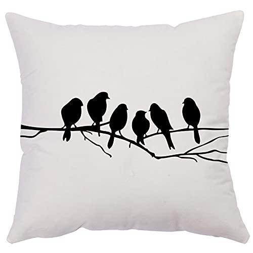 MissW Semplice Federa Decorativa con Stampa di Uccelli Pavone Senza Anima del Cuscino Cerniera E Fodera per Cuscino Lavabile Adatta per Il Divano della Camera da Letto