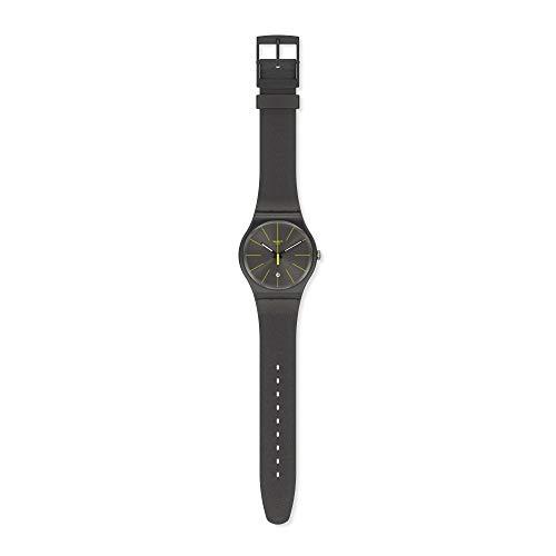 Swatch Reloj Analógico para Hombre de Cuarzo con Correa en Silicona SUOB404