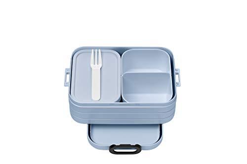 Mepal Fiambrera Bento Take A Break Nordic Blue Midi con compartimentos, apta para hasta 4 panes de mantequilla, 900 ml