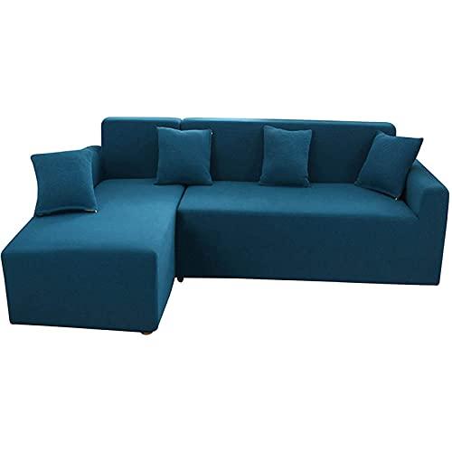 XYXH Funda para Sofá En Forma De L 2 Plazas, Funda Cubre Sofa con Reposabrazos, Funda De Sofá Antideslizante, Cubre Sofa Elastica, Cómodos Suave Lavable para Cuarto, Sala
