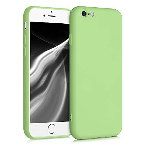 kwmobile Custodia Compatibile con Apple iPhone 6 / 6S - Cover Silicone Gommato - Back Case Protezione Posteriore Cellulare - Color tomatillo