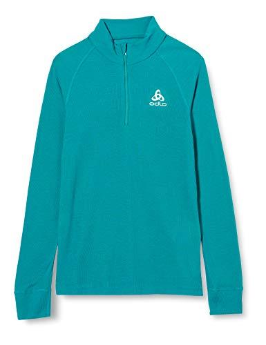Odlo BL Top Turtle Neck l/s Half Zip Active Warm Camiseta, Infantil, Azul Marino, 140