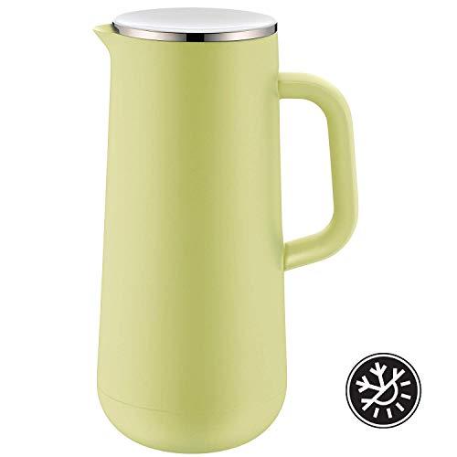 WMF Impulse Thermoskanne 1l, Isolierkanne für Kaffee oder Tee, Drehverschluss, hält Getränke 24h kalt & warm, lime grün