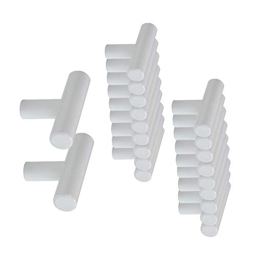 litulituhallo Solo agujero longitud 50mm 2 '' blanco puerta de gabinete de muebles de acero inoxidable 20 piezas 4