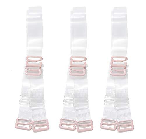 3 Paare BH-Träger Transparent Clear Bra Straps Einstellbar Durchsichtige BH-Träger für Damen