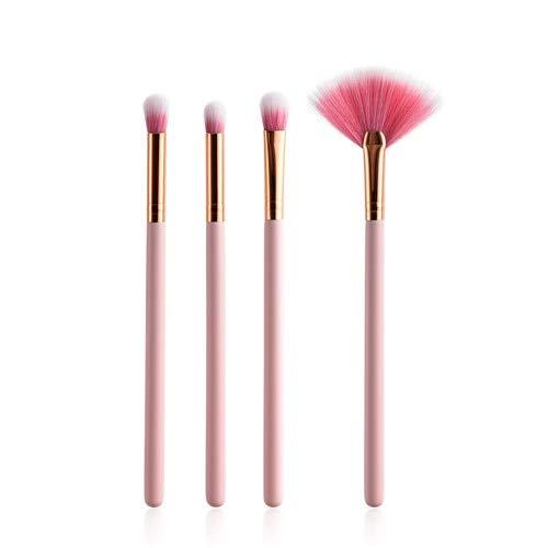 HZSHNY Pinceau de maquillage 4 / 10Pcs Pinceaux de maquillage rose crème de couleur crème Super Soft Base Poudre Blush Pinceau Pro Professional Kits 4pcs