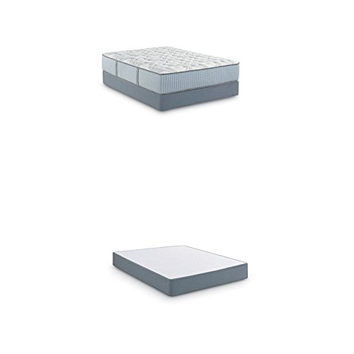 For Sale! Scott Living By Restonic Falkland Firm Bed Mattress and 5 Low Profile, Hybrid, Twin, Whit...