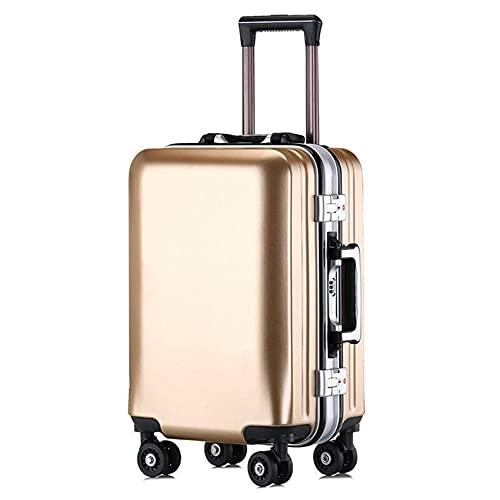 GIVROLDZ Valigia da Viaggio Rigida in ABS, Trolley da Lavoro con Struttura in Alluminio con 4 Ruote Piroettanti E Lucchetto A Combinazione con Quadrante, per Business Travel School,B