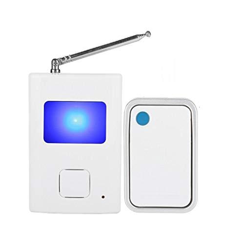 LANDUA Timbre inalámbrico WiFi Botón electrónico Impermeable Remoto Timbre de Puerta Suena Perro ladrando Timbre botón pulsador transmisor de Campana