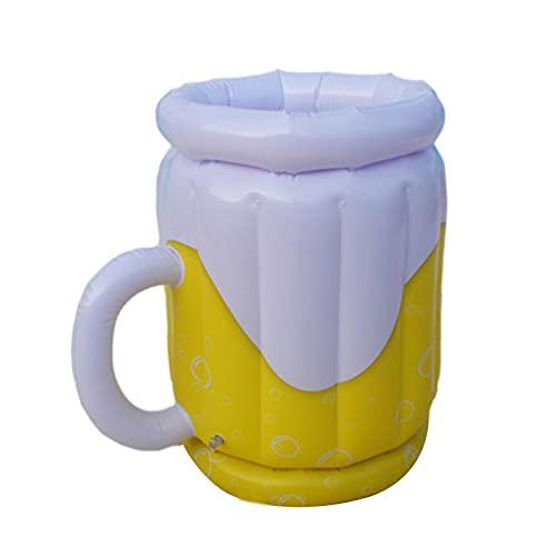 Aufblasbarer Getränkekühler Aufblasbarer Bier Getränke Tablett Erwachsene Partybedarf Aufblasbarer Pool Party Bierkrug für Party Picknick & Camping