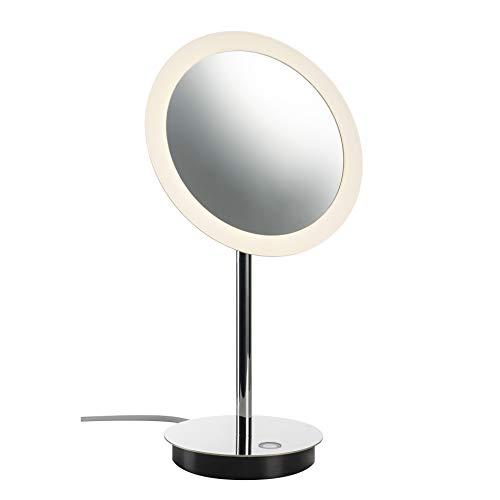 SLV Tischleuchte MAGANDA TL / LED Innen-Beleuchtung für Wohnzimmer, Büro, Schlafzimmer, Lese-Lampe / IP44 4.8W 51lm chrom