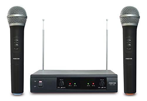 Set 2 draadloze microfoon-manomsh-206