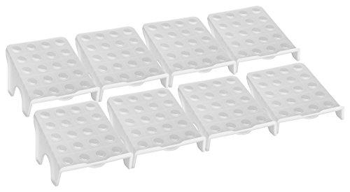 CH Handel 8 Schuhstapler/Schuhhalter/Schuhregal FIX - Sparset für 16 Paar Schuhe, Farbe:reisweiß
