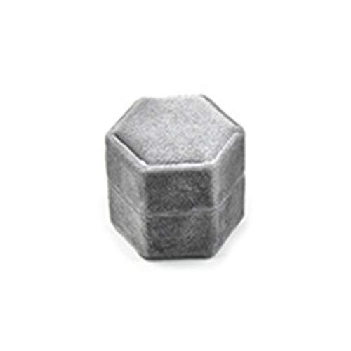 Yushu Caja de anillo de terciopelo vintage doble ranuras suministros de boda increíble Shooting Props Rotary Joyero organizador de moda pendientes anillo contenedor de almacenamiento