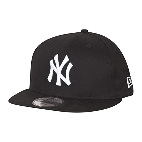 New Era Essential 9Fifty Kinder Snapback Cap NY Yankees Schwarz Weiß, Size:Youth