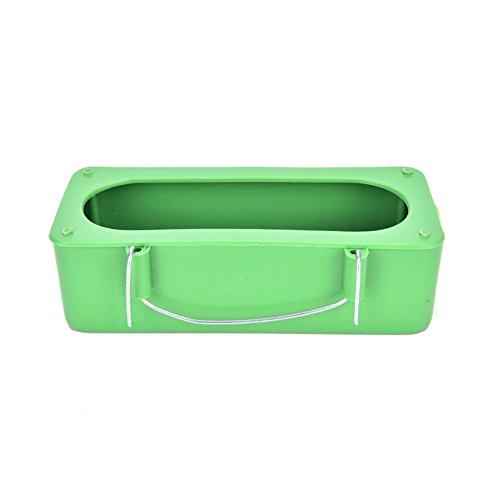 Ukallaite Mini Plastique Eau Nourriture Mangeoire Bol pour animal domestique Parrot Cage à oiseaux Mangeoire pour bain Tasses