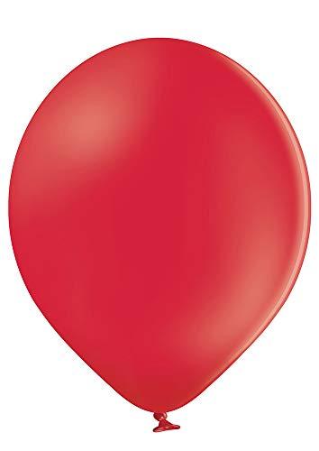 Ballonheld 50 große Premium Luftballons 100% Bio, Freie Farbwahl 40 Farben 27cm Durchmesser, heliumgeeignet, für Party, Geburtstag, Feiern (rot)