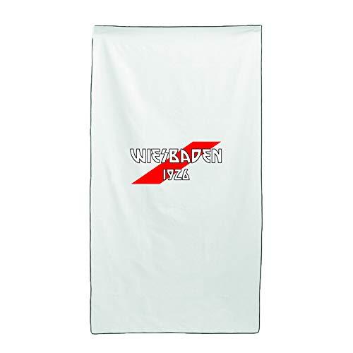 Tipolitografia Ghisleri Handtuch, Strandtuch Handtuch weiß Flagge Wiesbad 70 x 140 cm