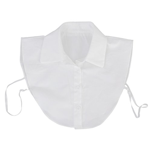 Blusen Einsatz Blusenkragen Krageneinsatz abnehmbare Kragen Schmuck schwarz - Weiß