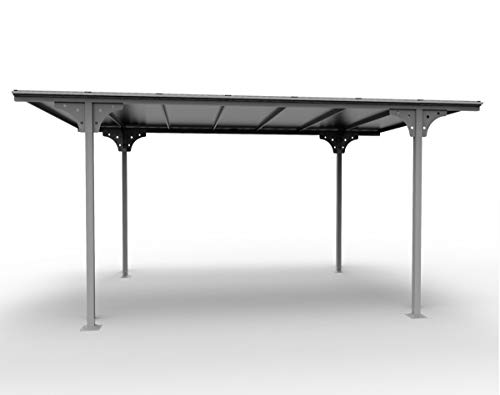 *Carport Aluminium Flachdach Farbe Grau Anthrazit/Oberfläche. © aus Spüle: 14.70M2/Dach Ausgabe mit ¼ Platten aus Polycarbonat UV 6mm/Neue fà ¼ HRT Ration mit© ¼ duction Wärmeentwicklung*