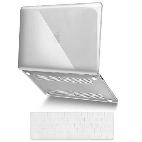 ASICEN Funda compatible con MacBook Pro 2019 2016 13 pulgadas A2159/A1706/A1989/A1708, carcasa rígida de plástico ultrafina, funda protectora para teclado y adaptador USB-C a USB (transparente)