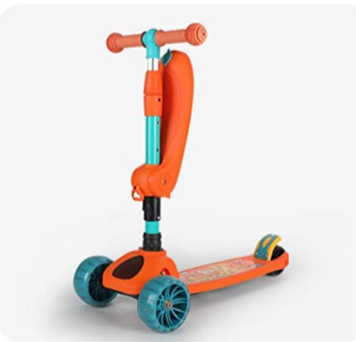 QIMA Kinderroller Roller Kinder Baby 2-3-8 Jahre Altes Kind Skating Auto Kann Sitzen Und Fahren Auf Einem Fuß...