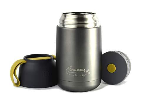 GASSCROCO - Recipiente térmico de 650 ml - Fiambrera Food Jar - Acero
