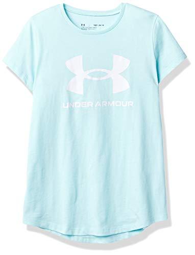 Under Armour Camiseta para niña Live Sportstyle Graphic, Niñas, Camiseta, 1361182-441, Breeze/White 441, 10 años