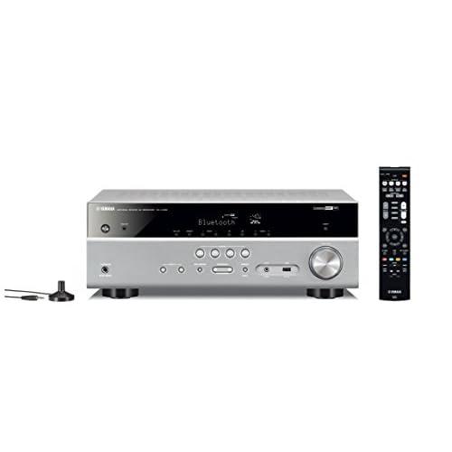 Yamaha RX-V485 Sintoamplificatore MusicCast multicanale – Ricevitore AV 5.1, 80 W per canale su 6 Ohm, supporto 4K, audio HD con Cinema DSP – WiFi dual band integrato, Bluetooth, USB, Titanium