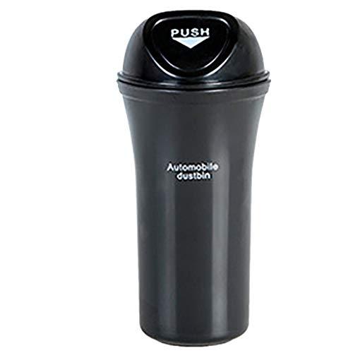 KANGMOON Mülleimer,Universal Mini Handy Abfalleimer Aschenbecher Papierkorb für Auto, Auto Mülleimer Mini Müll Kann Behälter (Black)