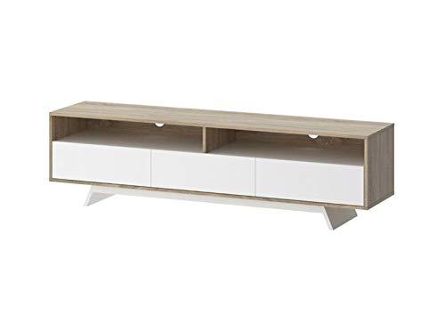 PKline TV Board Malika TV Lowboard eiken Lowboard Phono kast commode televisietafel