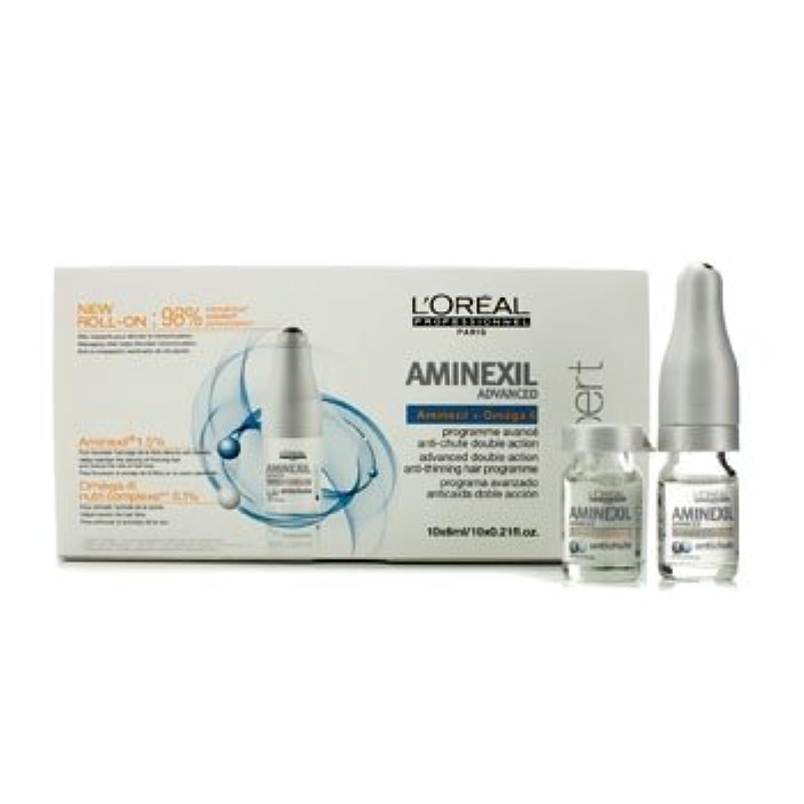 テーブルバナー差別的ロレアル Professionnel Expert Serie - Aminexil Advanced Anti-Thinning Hair Programme 10x6ml [並行輸入品][海外直送品]