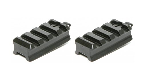 DLP Tactical Picatinny Mount Adaptor for ARC Rail Equipped ACH/Fast/MICH Combat Helmet (Black) Pack of Two