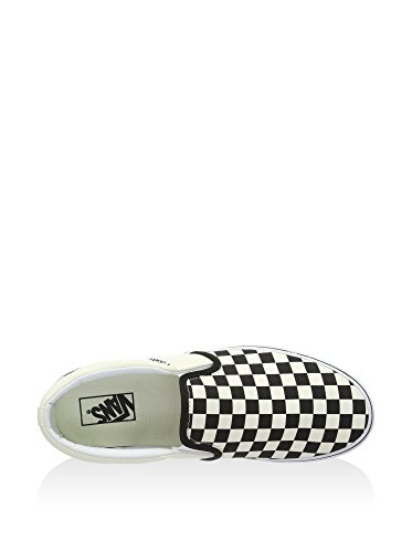 Vans Asher, Slip-on Sneaker Uomo, Checkers Black Natural, 42 EU