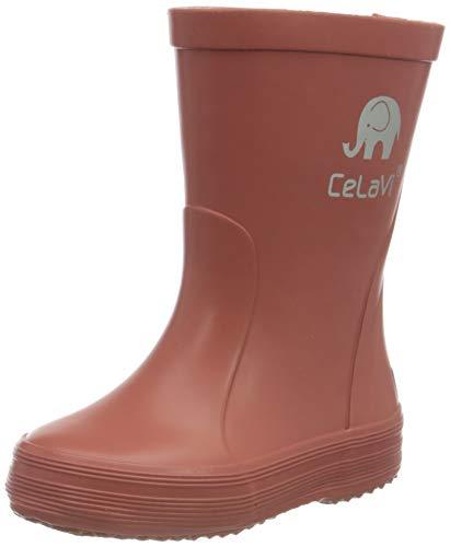 CELAVI Girls Basic Wellies solid Rain Boot, Redwood,21 EU