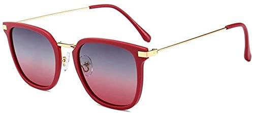 gafas de sol Europa Y Estados Unidos Cristal Cut Gafas de sol Mujeres s Moda Polígono UV400 Protección Marco Oro Té Color Degradado Lente