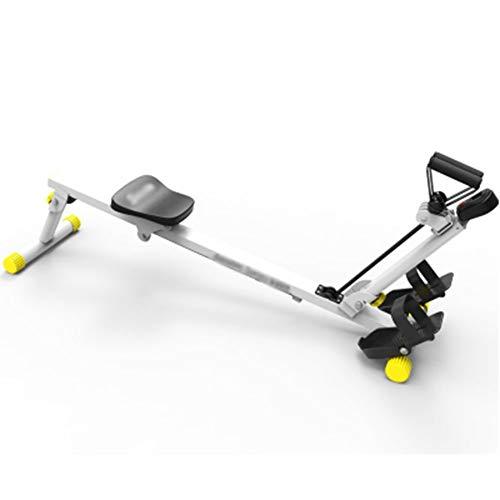 HLLXX Rudergerät klappbar für zuhause, Body Coach Rudergerät, Benutzergewicht bis 100 kg, 3-Fach regulierbarer, Digitale Konsole, Für Zuhause inkl