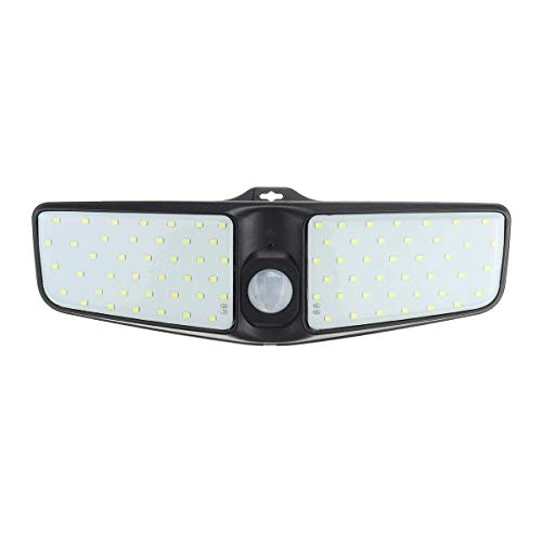 Allamp La iluminación exterior 80 LED solar de la seguridad Luz a la pared exterior de la lámpara de iluminación del sensor de movimiento IP65 resistente al agua luz nocturna Adecuado para el hogar, h