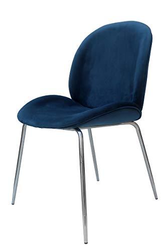 Kayoom Charlize 110 - Silla (2 unidades), color azul y cromado