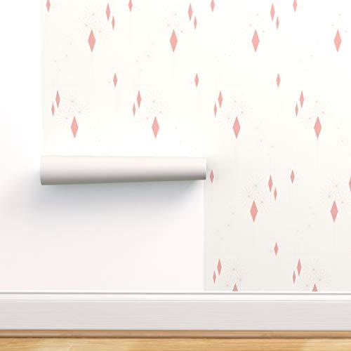 modern, Tapete, Inneneinrichtung, Bettzeug, reinigen, Kleidung, 1960, Geschenkpapier Spezialangefertigte Strapazierfähige Tapete 61 cm x 30 cm von Spoonflower