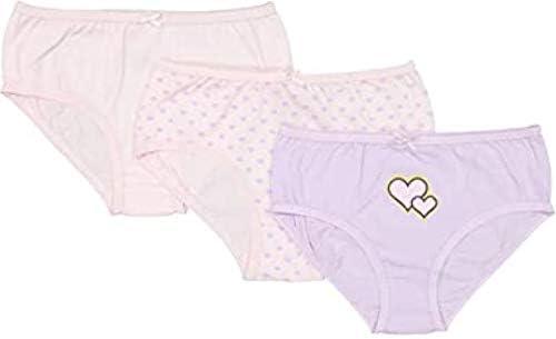 Baby Jay Pink Tagless Cotton Girl Briefs 3 Pack Ultra Soft Girl Underwear