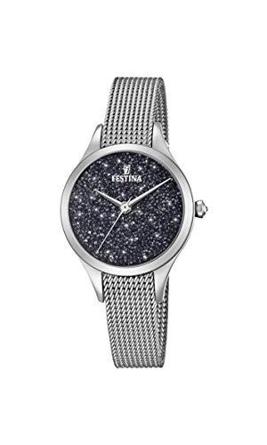 Festina Damen Analog Quarz Uhr mit Edelstahl Armband F20336/3