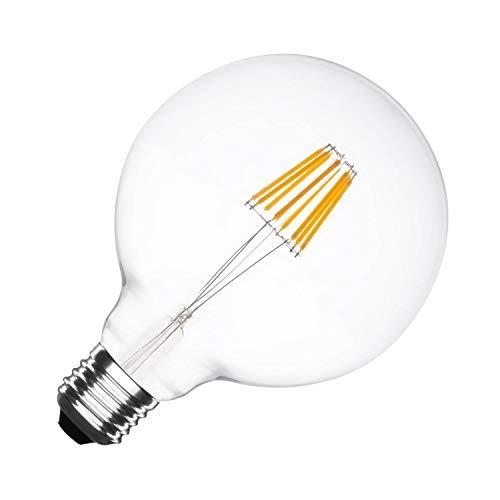 Lampada LED E27 Regolabile Filamento Supreme G125 6W Bianco Naturale 4000k-4500k LEDKIA