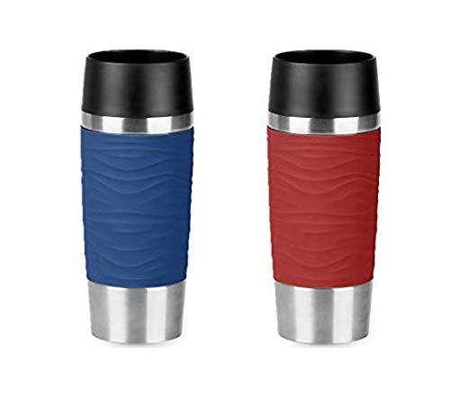Emsa Travel Mugs Wave 2 x 360ml - Blau + Rot
