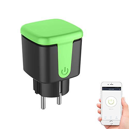 Enchufe inteligente, enchufe inteligente de salida WiFi, enchufe de control remoto con función de temporizador, funciona con Alexa y Google Home Assistant, solo admite red de 2.4GHz