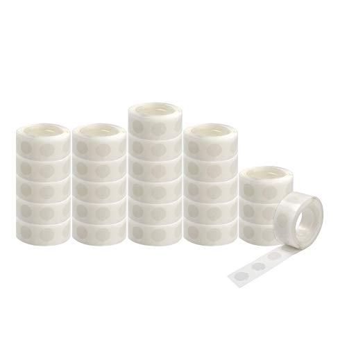 Cinta adhesiva de doble cara con pegamento para globos, 100 puntos, cada rollo, fuerte adhesivo para globos de papel, flores, álbum de recortes, manualidades, decoración de manualidades y cinta (25)