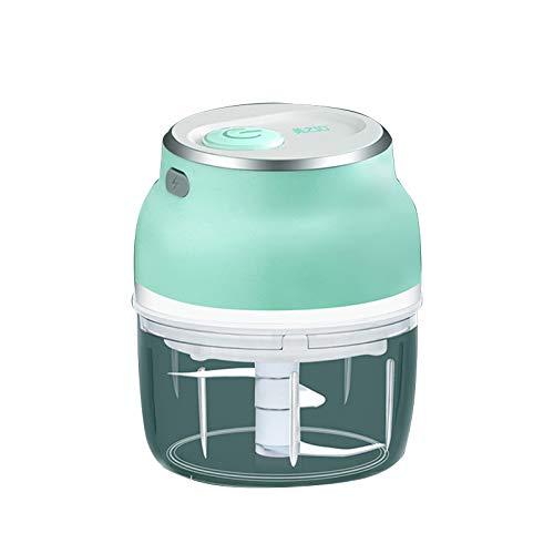 LEDMI Mini picador de ajo pequeño procesador de alimentos eléctrico 150 ml, potente ajo/jengibre/cacahuete picadora portátil/pimienta chile verduras nueces carne