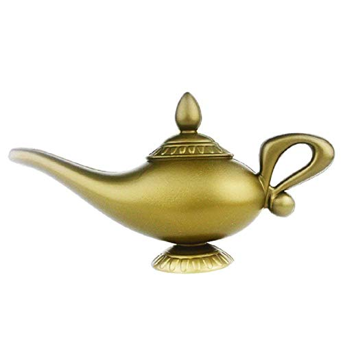 NaiCasy Plastic Model Aladdin's Lamp Cosplay Halloween Props Lamp for Party Favor